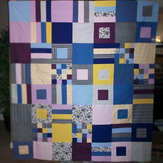Squares & Stripes Quilt Top